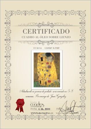 certificado de compra en todocuadros