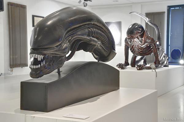 Cabeza gigante en el museo de Hamburgo.