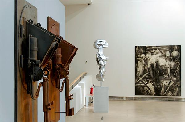 Exposición de objetos artísticos.