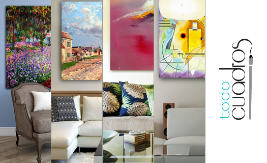 Cuadros Decorativos Arte Al Oleo Para Decoracion Moderna - Decoracion-de-interiores-con-cuadros