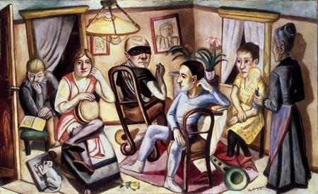 Max Beckmann, obras modernas, pintor alemán.