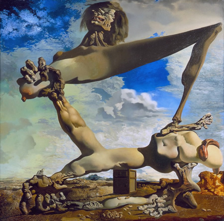 Salvador Dalí, cuadros al óleo, pintor surrealista. Construccion-blanda-judias-hervidas-dali
