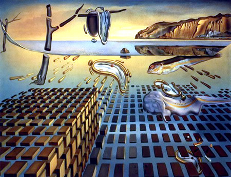 Salvador Dalí, cuadros al óleo, pintor surrealista. Desintegracion-persistencia-memoria-dali-obra