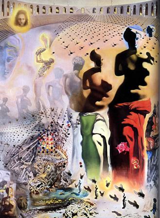 Salvador Dalí, cuadros al óleo, pintor surrealista. Torero-alucinogeno-dali
