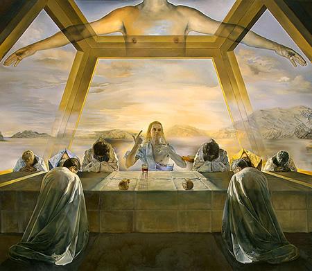 Salvador Dalí, cuadros al óleo, pintor surrealista. Ultima-cena-salvador-dali
