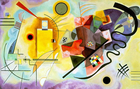 Wassily Kandinsky, obras de arte colorido, pintor ruso Amarillo-rojo-azul-kandinsky