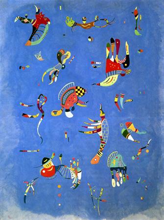Wassily Kandinsky, obras de arte colorido, pintor ruso Cielo-azul-oleo-kandinsky
