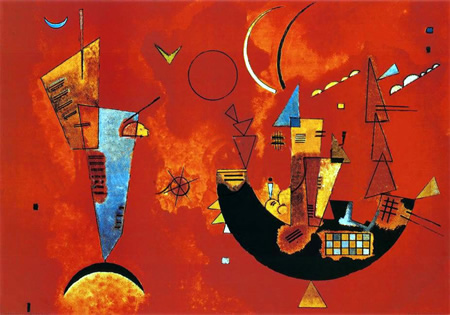 Wassily Kandinsky, obras de arte colorido, pintor ruso Con-contra-kandinsky