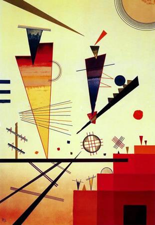 Wassily Kandinsky, obras de arte colorido, pintor ruso Estructura-alegre-kandinsky