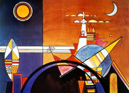 Wassily Kandinsky, obras de arte colorido, pintor ruso Gran-torre-kiev-kandinsky