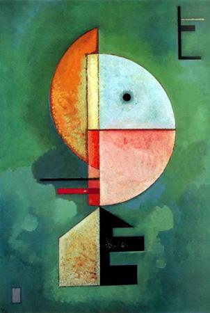 Wassily Kandinsky, obras de arte colorido, pintor ruso Hacia-arriba-kandinsky
