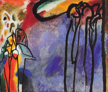 Wassily Kandinsky, obras de arte colorido, pintor ruso Improvisacion-19-kandinsky