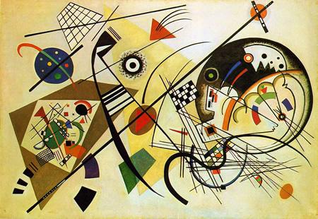 Wassily Kandinsky, obras de arte colorido, pintor ruso Lineas-transversas-kandinsky