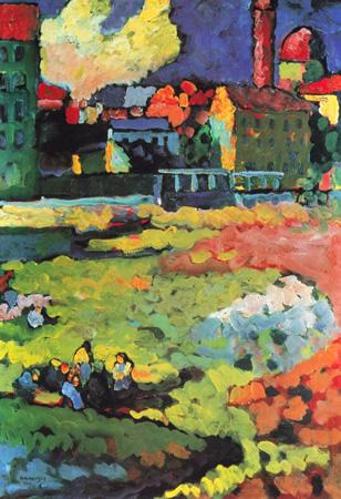 Wassily Kandinsky, obras de arte colorido, pintor ruso Munich-iglesia-ursula-kandinsky