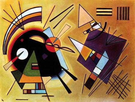 Wassily Kandinsky, obras de arte colorido, pintor ruso Negro-violeta-kandinsky