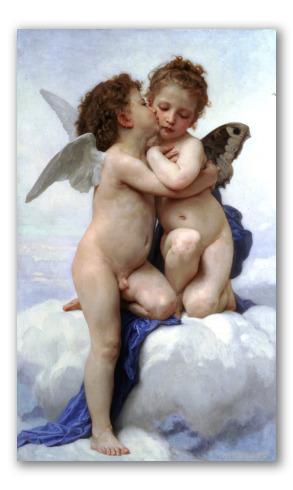 """Cuadro """"Cupido y Psique, niños"""""""