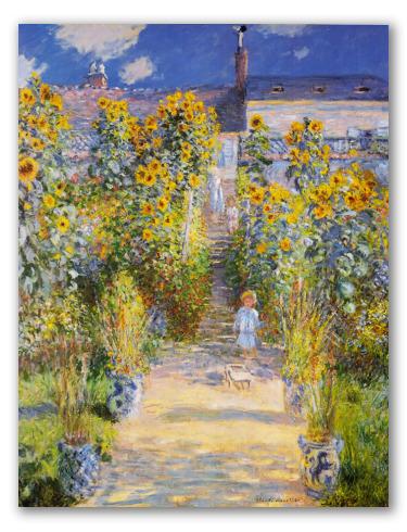 Jardín de Monet en Vetheuil