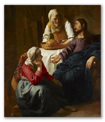 """""""Cristo en casa de Marta y María"""" de Vermeer"""