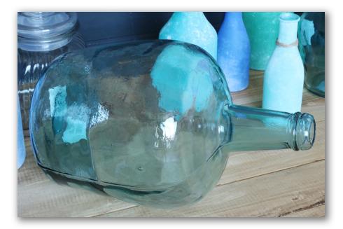 Garrafa decorativa vidrio transparente