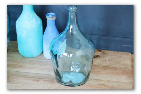 Botella decorativa estilo vidrio soplado