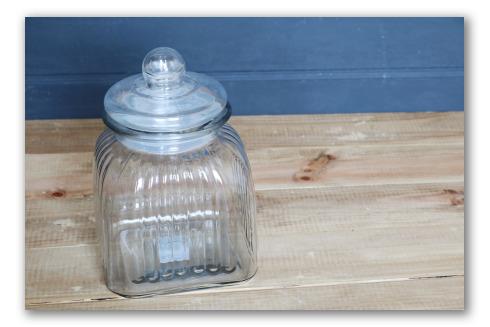 Frasco de caramelos de cristal estilo vintage