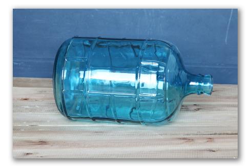 Garrafa azul estilo vintage
