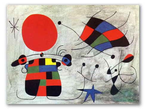 La Sonrisa de Alas Flamenates - Miró