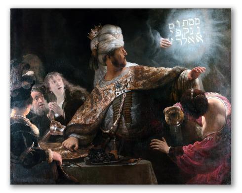 """Obra """"El festín de Baltasar"""""""