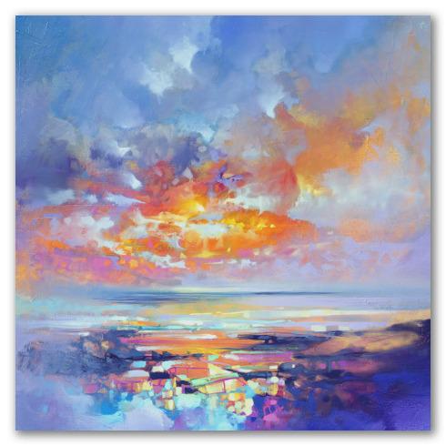 Crepúsculo de Ibiza, óleo abstracto.