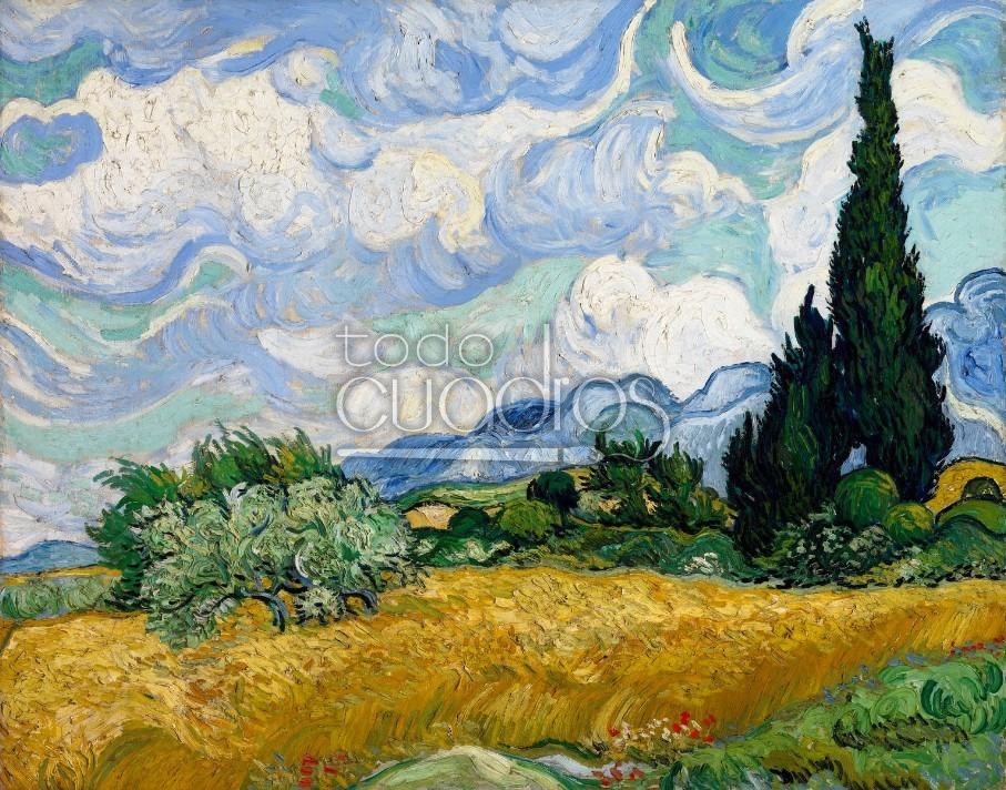 Quot Campo De Trigo Con Cipreses Quot Cuadro De Vincent Van Gogh