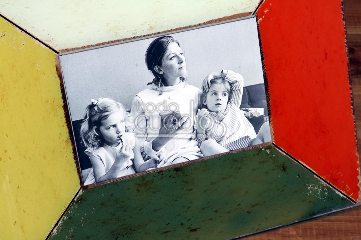 Marco de fotos cristal colores estilo retro - Marcos de cristal ...