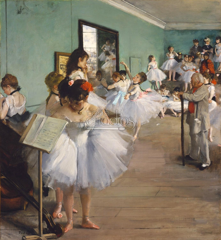 cuadro la clase de danza de degas pintura de bailarinas