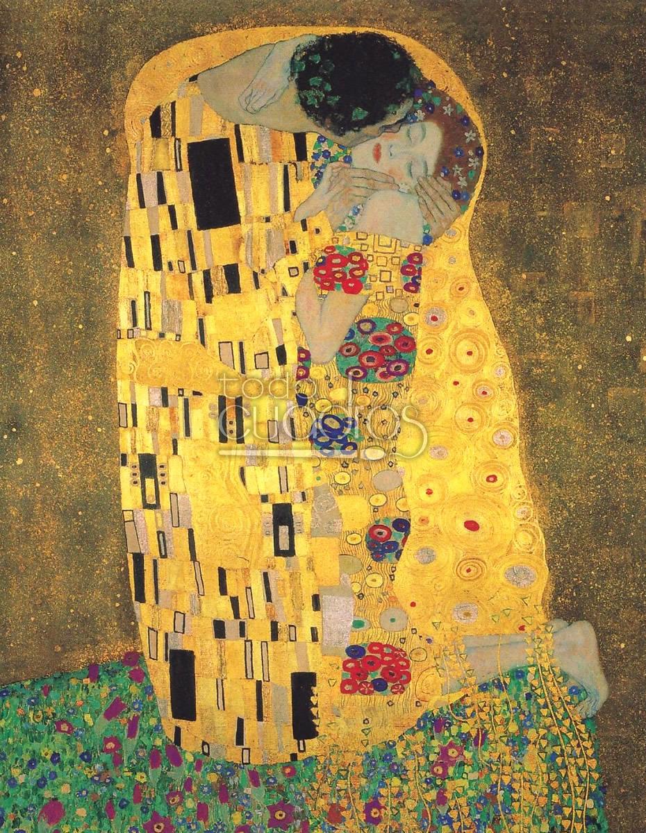 El Beso de Klimt, reproducción de la obra, cuadro famoso.