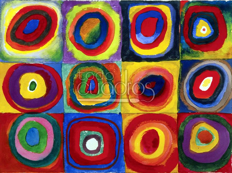 Estudio de color con cuadrados de kandinsky arte en reproducci n - Cuadros de colores ...