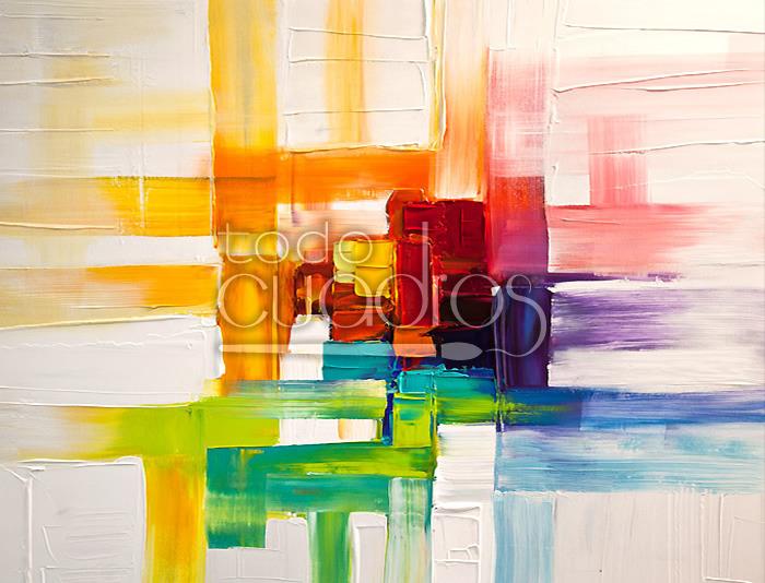 Cuadro colores del prisma obra divertida y actual - Fotos cuadros modernos ...