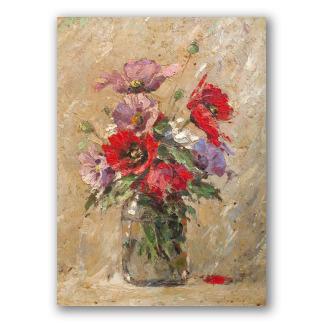 Cuadros de flores pinturas al leo sobre tela for Vasi di fiori dipinti