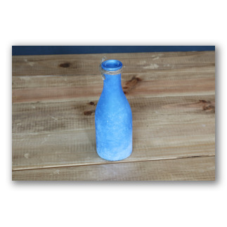 Botellita de vidrio azul añil Santorini mini. D1001
