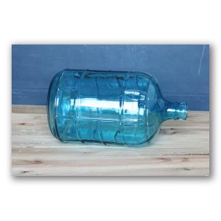 Garrafa de vidrio azul estilo retro glass. D1102