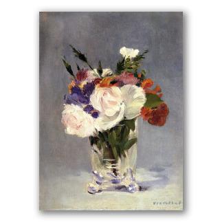 Flores en jarrón de cristal - Manet