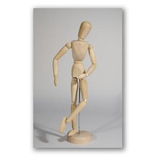 Figura de madera modelo para dibujar.