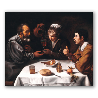 Tres hombres a la mesa